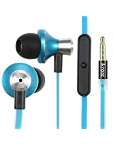 iKross In-Ear 3.5mm Noise-Isolation Stereo Earbuds with Microphone - Blue