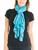 Cotton Cantina Juniors Semi Sheer Basic Scarf with Contrasting Trim (One Size, Teal)