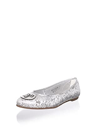 Pliner Jrs Taylor Sequined Flat (Silver Sequin)