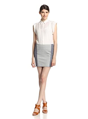 Thakoon Addition Women's Seamed Skirt (Blue/Ivory)