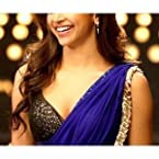 Deepika bollywood replica blue chiffon saree by adiva rv029