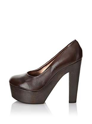 Madison Harding Women's Jullian Platform Pump (Brown Leather)