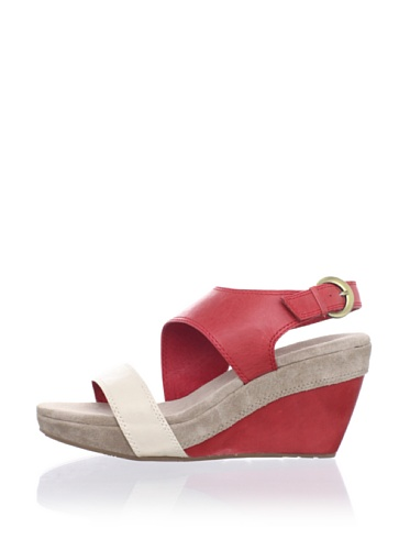 Chocolat Blu Women's Beaches Wedge Sandal (Red)