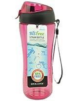 Lock&Lock Bisfree Sports Bottle with Silicon Straw, Pink, 650ml