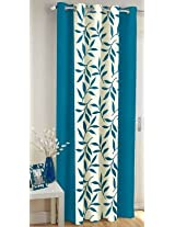 Freehomestyle Floral Window Curtain- Aqua