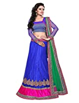 SURUPTA Radiant Blue Wedding Party Wear Lehenga Choli