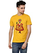 Men - T-Shirt - Boys - Round Neck - Casual Wear - Yellow - - Kathakali