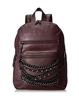 ASH Women's Domino Chain Small Backpack, Dark Wine/Matte Black