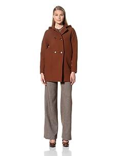 MARTIN GRANT Women's Hooded Duffle Coat (Chestnut)