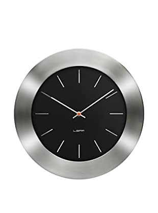 Leff Amsterdam Stainless Steel Bold Index Clock (Black)