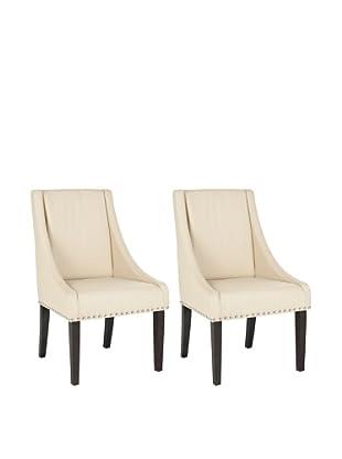Safavieh Set of 2 Britannia Side Chairs, Cream