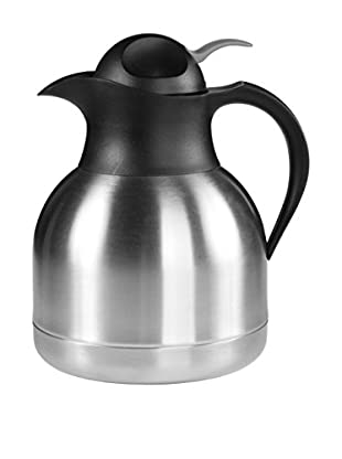 Fortessa Insulated Beverage Server, Stainless Steel/Black, 33-Oz.