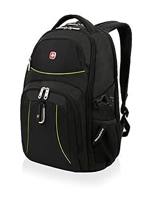 SwissGear Backpack, Black Cod/Neon Green