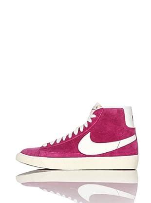 Nike Zapatillas Wmns Blazer Low Suede (Vntg) (Fucsia/Blanco)