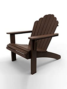 Malibu Outdoor Furniture Hampton Adirondack Chair (Dark Brown)
