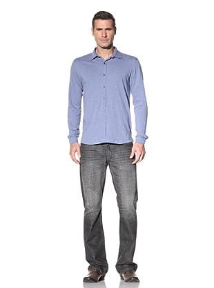 Robert Barakett Men's Miami Knit Shirt (Moody Blue)