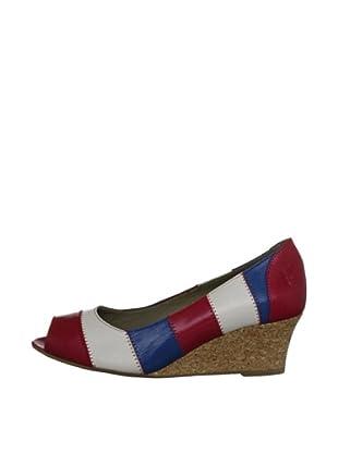 Fly London Zapatos Tricolor (Índigo / Crema / Negro)