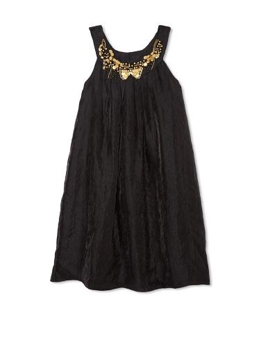Blush by US Angels Girl's Trapeze Dress (Black)