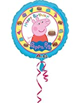 """Peppa Pig Happy Birthday Party Supplies 18"""" Foil Balloon Decoration"""