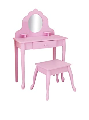 KidKraft Medium Diva Table and Stool, Pink