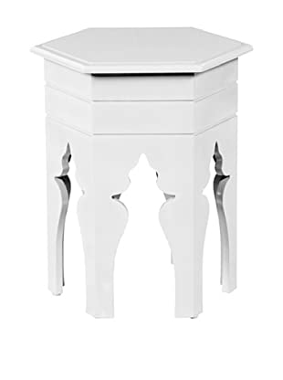 Article 24 Hex Accent Table (White)