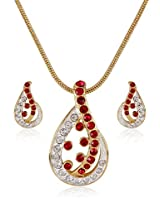 Estelle Gold and Silver Plated Necklace Set With Crystals (8197)