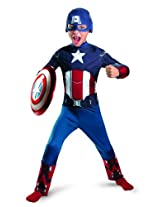 Disguise Costumes Avengers Captain America Classic Costume, Red/White/Blue (Small)