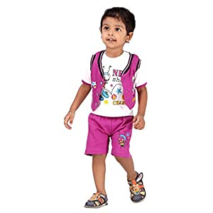 Kids Clothing Baby Boy Clothes Short Sleeves T-shirt Round Neck OUT WEAR Printed CARTOON By TICSON