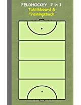 Feldhockey 2 in 1 Taktikboard Und Trainingsbuch