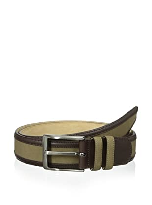 Mezlan Men's Embossed Belt (Brown/Olive)