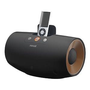 maxell 低音に迫力を持たせた円筒バスレフユニット搭載 アクティブスピーカー ブラック MXSP-D240.BK