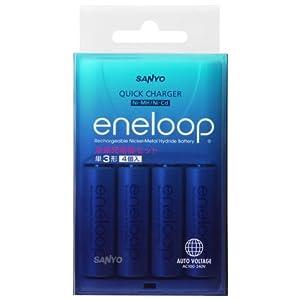 SANYO 急速充電器セット 「eneloop」 (単3形eneloop4個セット)