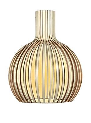 Lo+deModa Lampe Ball Wood Haya Tintada beige