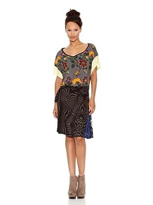Desigual Vestido Romina (Negro Estampado)