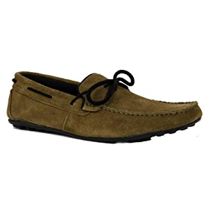 Bacca Bucci Olive Green Men Loafers - 3300