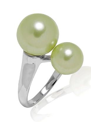 Perldor Ring 925 Sterlingsilber Muschelkernperlen maigrün 60650164