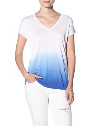 525 America Women's Dip Dye V-Neck Top (Overboard Blue)