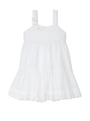 Laura Ashley Girl's Eyelet Tank Dress (White)
