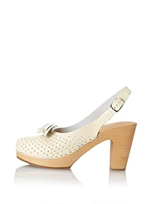 Swedish Hasbeens Women's Mimmi Bow Slingback (Cream White)