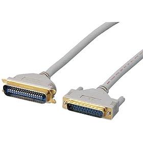 【クリックで詳細表示】ELECOM IEEE1284プリンターケーブル D-Sub25pinオス-セントロニクス36pinオス 1.0m CPC-F1