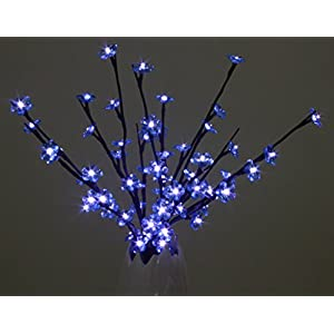 Blue Crystal Flowers Branch Lights