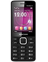 Adcom X17 (Trendy) Dual Sim Mobile- Black