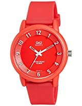 Q&Q Analog Red Dial Unisex Watches - VR52J009Y