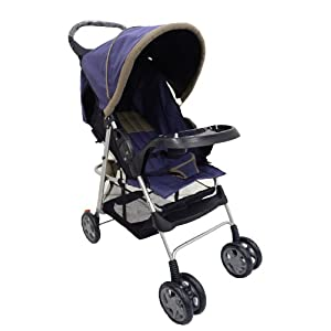Dream on Me Jupiter Stroller, Navy/Gray (Discontinued by Manufacturer)