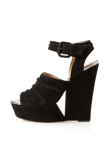 L.A.M.B. Women's Adorable Ankle-Strap Sandal (Black)