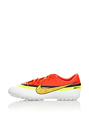 Nike Botas Fútbol Jr Mercurial Victory Iv Cr Tf (Blanco / Naranja / Amarillo)