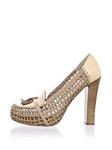 Chelsea Paris Women's Moho Woven Platform Loafer (Camel/Khaki)
