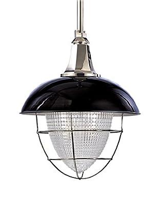 Hudson Valley Lighting Keene 1-Light Pendant, Black Polished Nickel/Clear