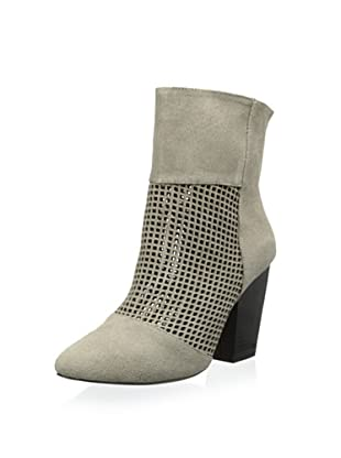 Kelsi Dagger Women's Zoya Perforated Bootie (Stone Grey)