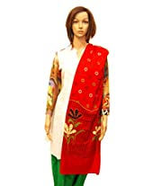 Dulhan Choice Red Colour Cotton Dupatta
